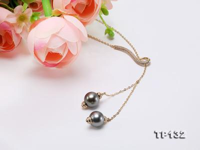 10mm Tahitian Black Pearl Pendant in Sterling silver TP132 Image 7