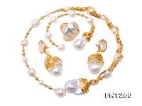 Customized 9k Gold with Baroque Freshwater Pearl Set  FNT260