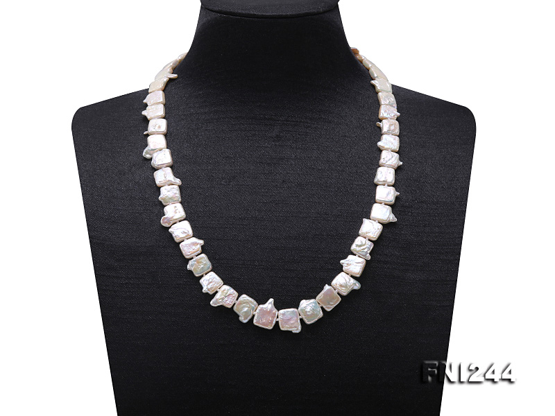 9×10-10×12mm White Baroque Pearl Necklace  big Image 1