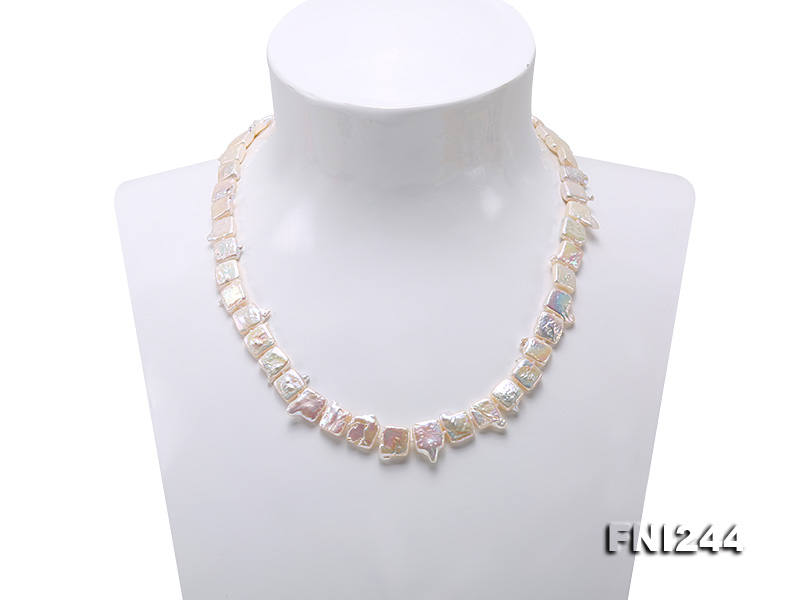 9×10-10×12mm White Baroque Pearl Necklace  big Image 2