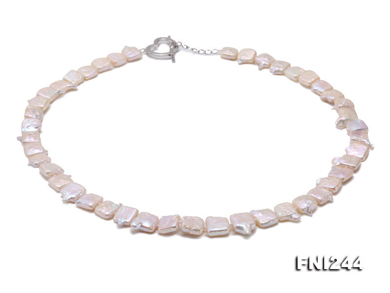 9×10-10×12mm White Baroque Pearl Necklace  big Image 3