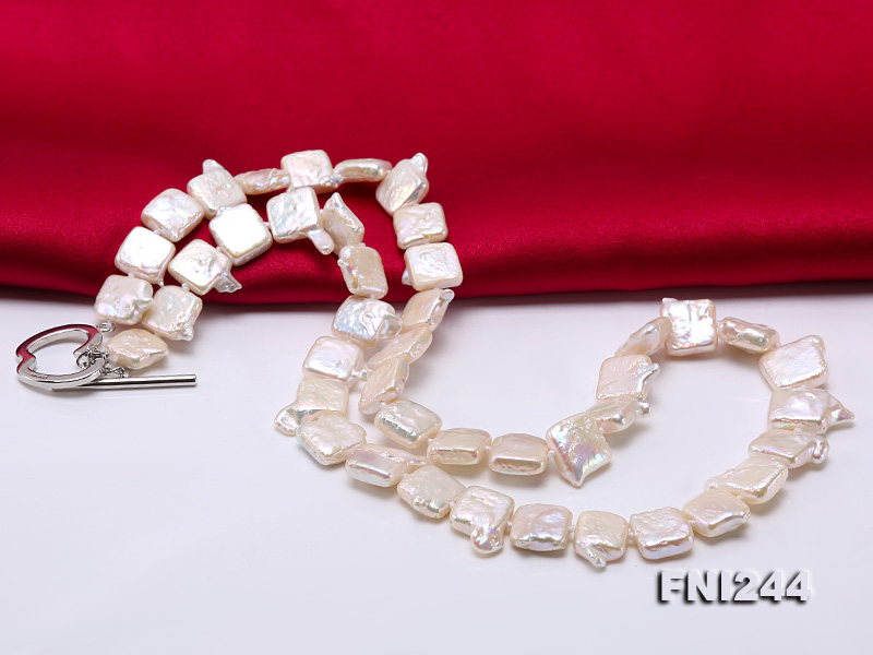 9×10-10×12mm White Baroque Pearl Necklace  big Image 4