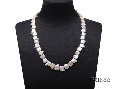9×10-10×12mm White Baroque Pearl Necklace  FNI244 Image 1
