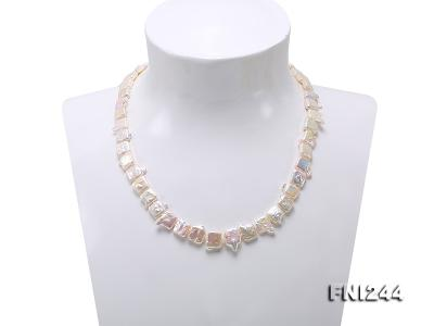 9×10-10×12mm White Baroque Pearl Necklace  FNI244 Image 2