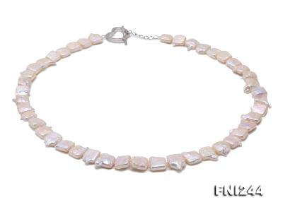 9×10-10×12mm White Baroque Pearl Necklace  FNI244 Image 3