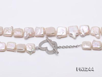 9×10-10×12mm White Baroque Pearl Necklace  FNI244 Image 6