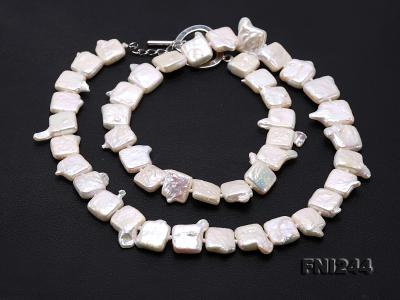 9×10-10×12mm White Baroque Pearl Necklace  FNI244 Image 8