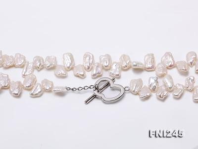 7×11mm White Biwa Freshwater Pearl Necklace FNI245 Image 5