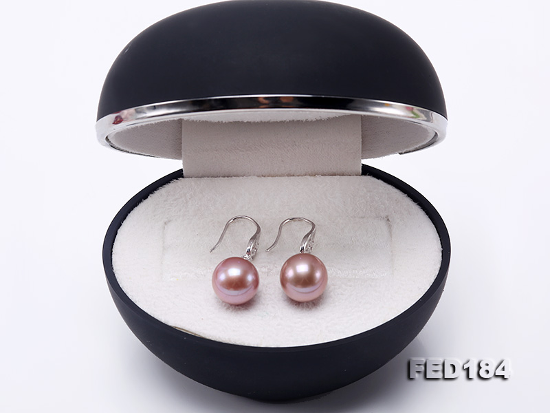 11.5mm Rich Lavender Round Edison Pearl Earring in Sterling Silver big Image 9