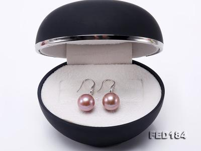 11.5mm Rich Lavender Round Edison Pearl Earring in Sterling Silver FED184 Image 9