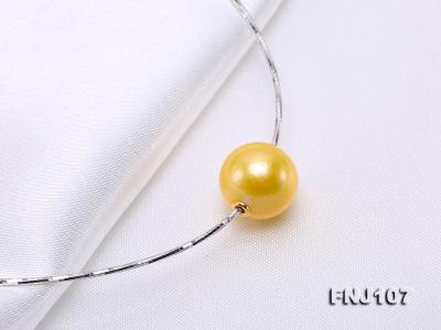 Chic 14mm Single-Pearl Necklace with Sterling Silver Chain FNJ107 Image 6