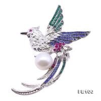 Exquisite Phoenix-shape 13mm Freshwater Pearl Brooch FB100