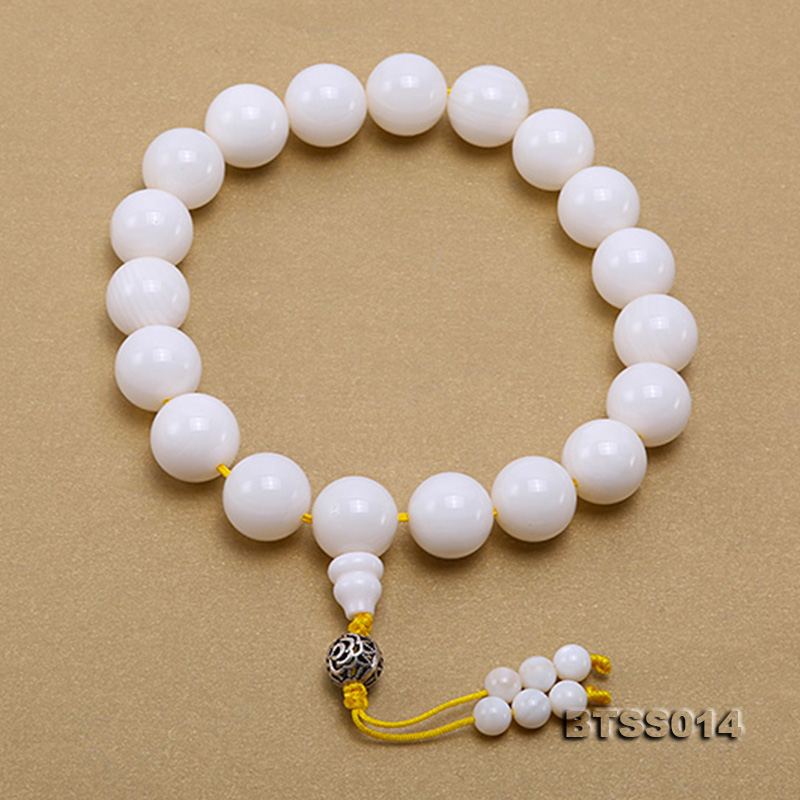 15.5mm Round White Tridacna Prayer Beads big Image 1