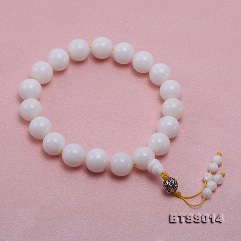 15.5mm Round White Tridacna Prayer Beads big Image 2