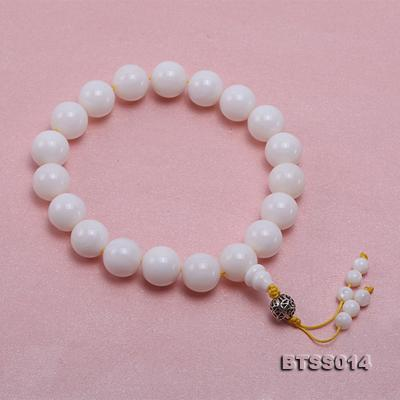15.5mm Round White Tridacna Prayer Beads BTSS014 Image 2