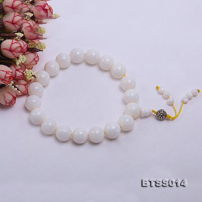 15.5mm Round White Tridacna Prayer Beads BTSS014 Image 3