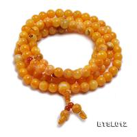6mm Round Jadified Tridacna Beads Elastic Prayer Beads/Bracelet BTSL012