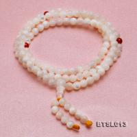 5mm Round Jadified Tridacna Beads Elastic Prayer Beads/Bracelet BTSL013
