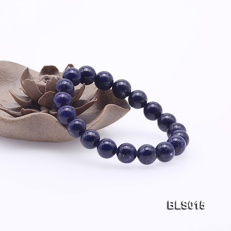10mm Round Lapis Lazuli Elasticated Bracelet big Image 4