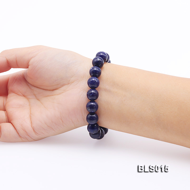 10mm Round Lapis Lazuli Elasticated Bracelet big Image 5
