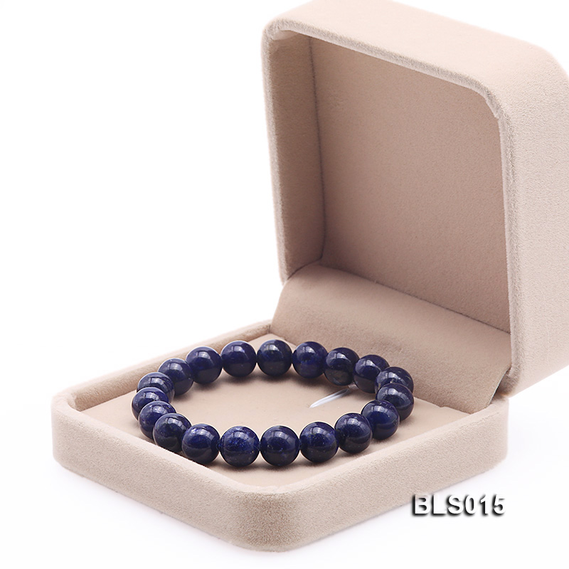 10mm Round Lapis Lazuli Elasticated Bracelet big Image 6