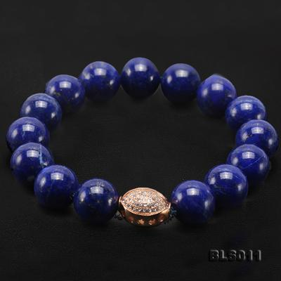 12mm Round Blue Lapis Lazuli Elasticated Bracelet BLS011 Image 8