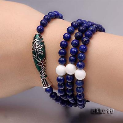 6mm Round Blue Lapis Lazuli Prayer Beads Elasticated Necklace/Bracelet BLL019 Image 7