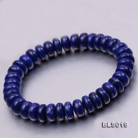 4.5x10mm Blue Oblate Lapis Lazuli Elasticated Bracelet BLS019