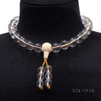 Buddhism Jewelry---14mm Round Rock Crystal Prayer Beads BCLS045