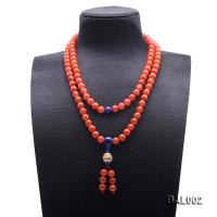 High Quality 10-10.5mm Natural Nanhong Agate Prayer Beads/Necklace BAL002