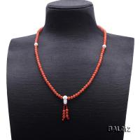 High Quality 5-5.5mm Natural Nanhong Agate Prayer Beads/Necklace BAL012