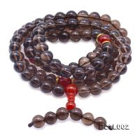 Buddhism Jewelry---10mm Smoky Quartz Prayer Beads BCLL002