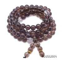 Buddhism Jewelry---10mm Smoky Quartz Prayer Beads BCLL001