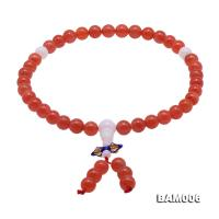 High Quality 8-8.5mm Natural Nanhong Agate Prayer Beads/Bracelet BAM006