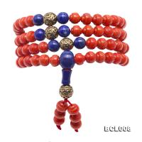 Buddhism Jewelry---Beautiful 7mm Red Coral Prayer Beads/Bracelet BCL008
