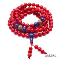 Buddhism Jewelry---Beautiful 7.5mm Red Coral Prayer Beads/Bracelet BCL010