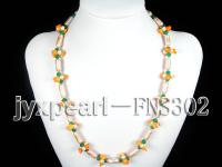 Special 6.5x17mm Cylinder-Shape Pearl Necklace FNS302