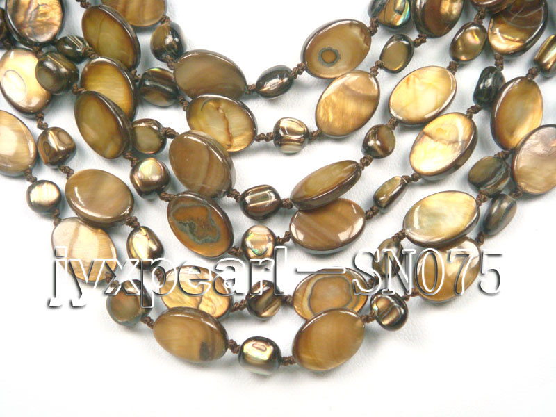 Six-strand 10x14mm Natural Shell Necklace  big Image 2