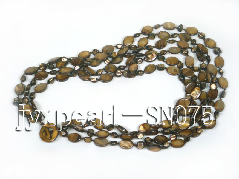 Six-strand 10x14mm Natural Shell Necklace  big Image 4