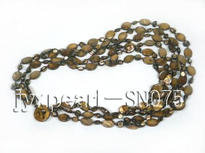 Six-strand 10x14mm Natural Shell Necklace  SN075 Image 4