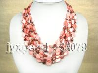 Six-strand 10x15mm Natural Shell Necklace  SN079