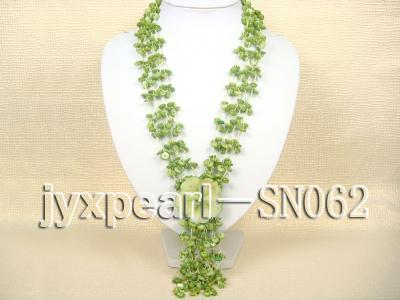 Delicate Four-strand 8-10mm Natural Shell Necklace  SN062 Image 1