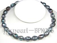 Unique 11.5-12mm Blue Baroque Freshwater Pearl Necklace BPN026