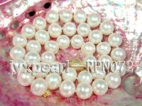 Classical 10.5-11.5mm White Semi-Round Pearl Necklace RPN072