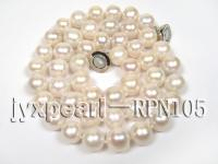 Classical 8.5-9.5mm White Round Pearl Necklace RPN105