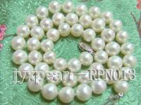 Classic 8-9mm White Semi-Round Cultured Freshwater Pearl Necklace  RPN013