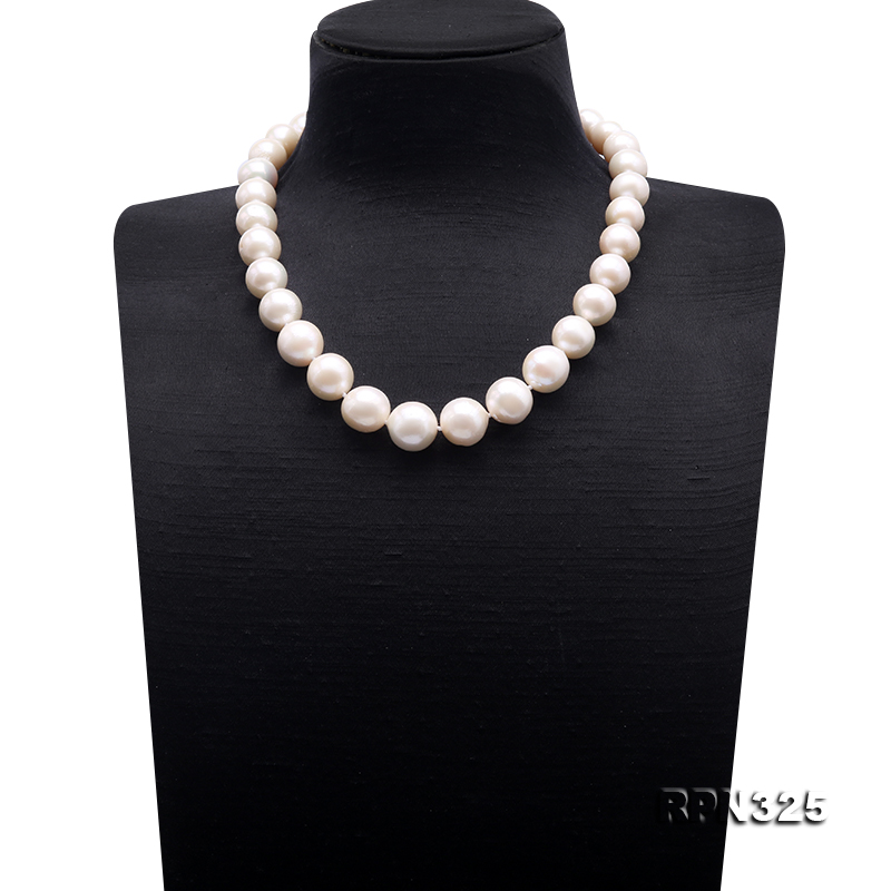 Incredibly Huge 13-16mm White Edison Pearl Necklace big Image 1