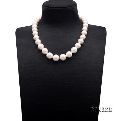 Incredibly Huge 13-16mm White Edison Pearl Necklace RPN325 Image 1