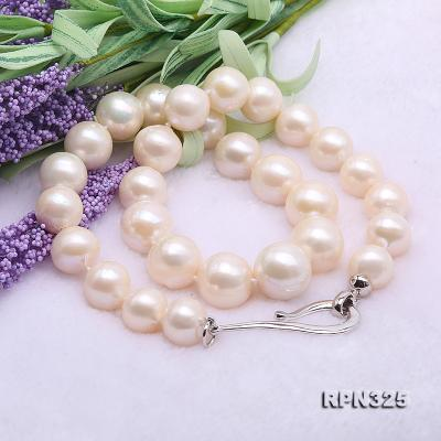 Incredibly Huge 13-16mm White Edison Pearl Necklace RPN325 Image 7