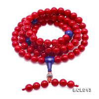 Buddhism Jewelry---Beautiful 9mm Red Coral Prayer Beads/Bracelet BCL013